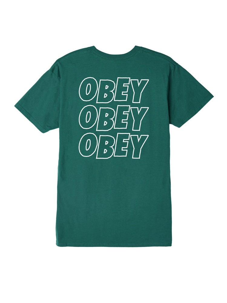 Image of OBEY - JUMBLE LO FI PREMIUM TEE (TEAL)