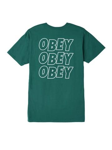Image of OBEY - JUMBLE LO FI PREMIUM TEE (TEAL)