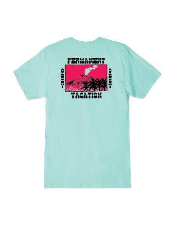 Image of OBEY - PERMANENT VACATION II PREMIUM TEE (CELADON)