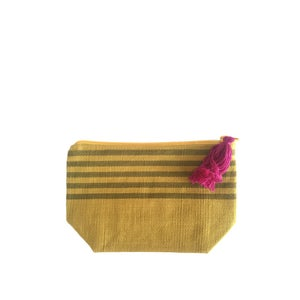 Image of Small Tassel Bag Mustard/Olive