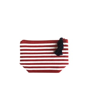 Image of Small Tassel Bag Red/White