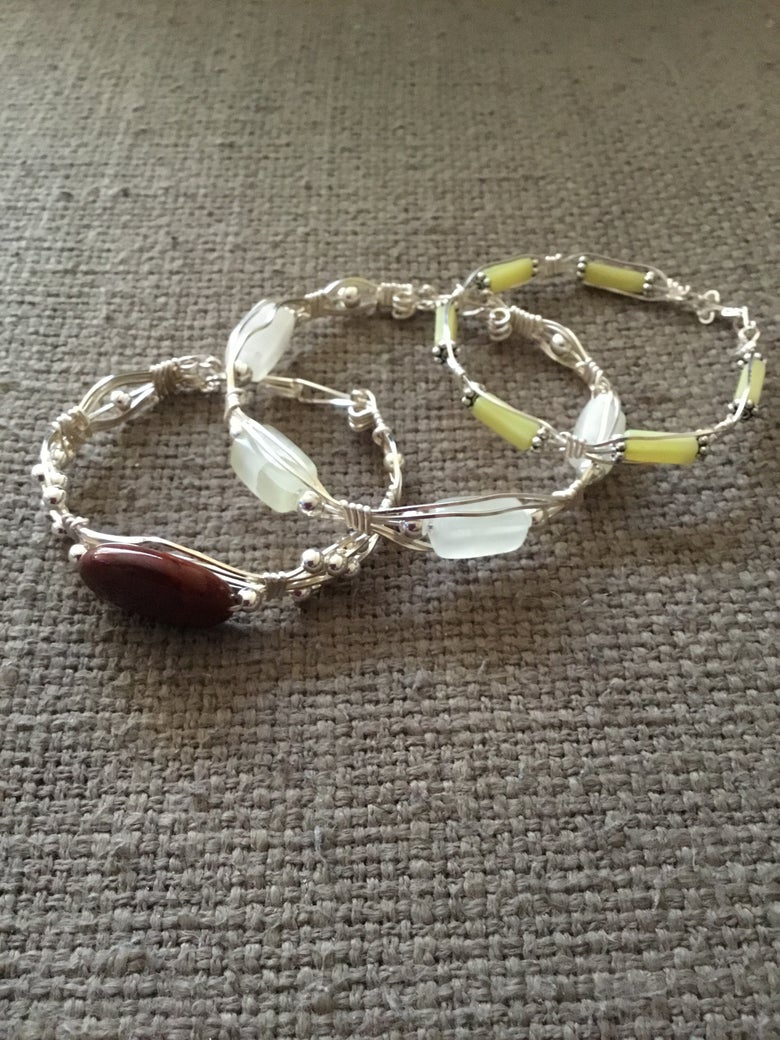 Image of Wire wrapped bracelets