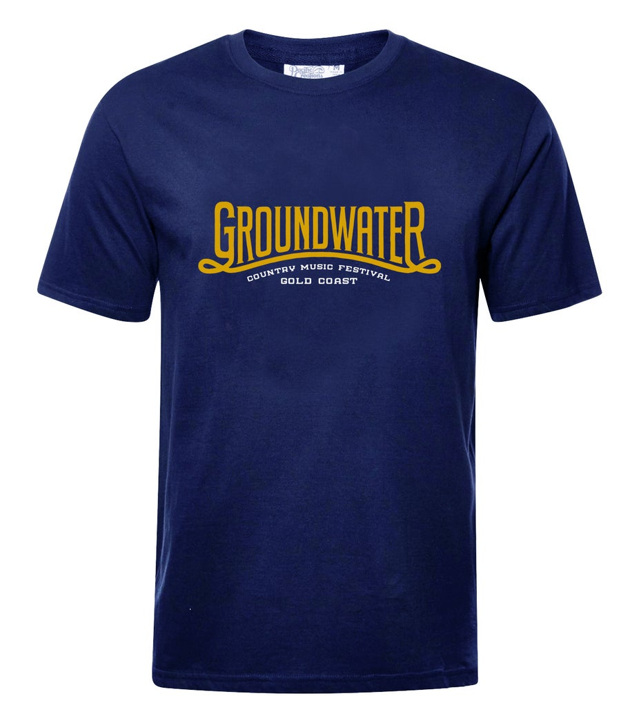 Image of Groundwater Navy Mens Classic T-Shirt