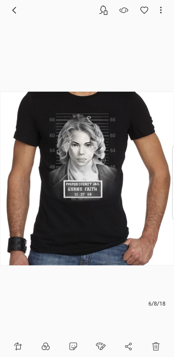 Image of Faith Unisex Mug Shot Tee in Black