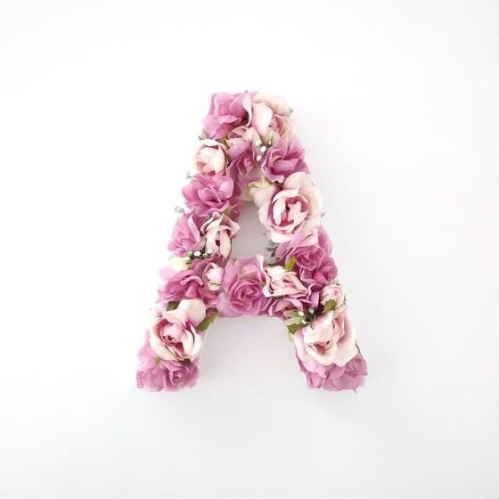Image of Pink Floral Letter