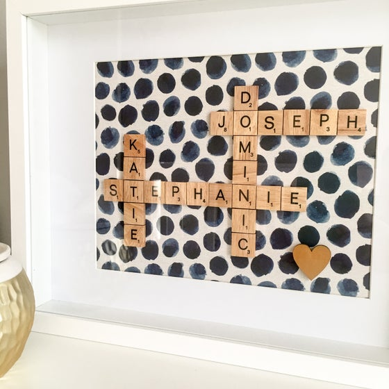 Image of Small Scrabble Family Frame (1-5 words)