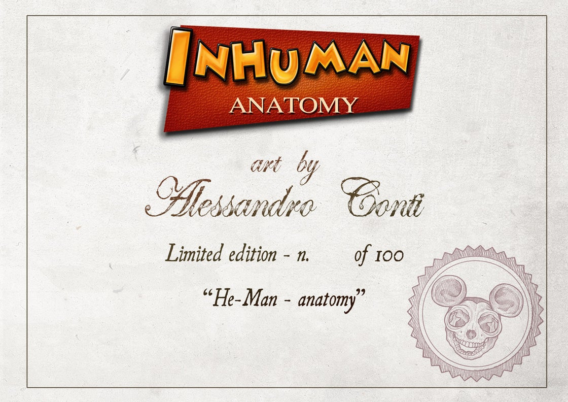 Image of HE-MAN- ANATOMY  limited edition of 100 Giclèe print on fine art canvas