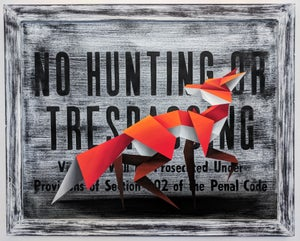 Image of 'Violators will be prosecuted' original painting
