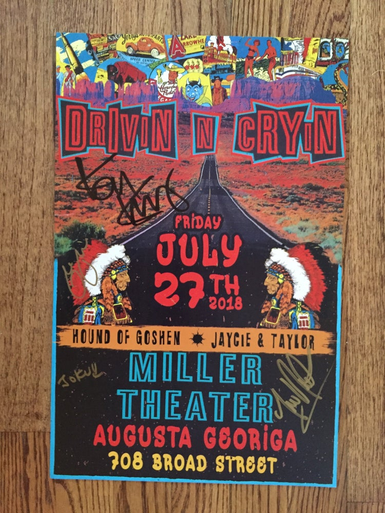 Image of Augusta autographed poster Miller Theater