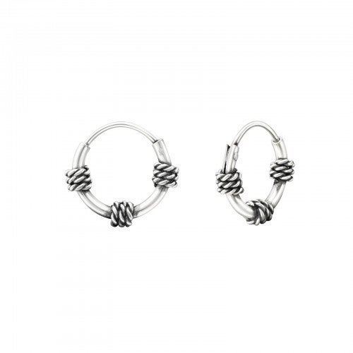 Image of Snug Balinese Hoop earrings
