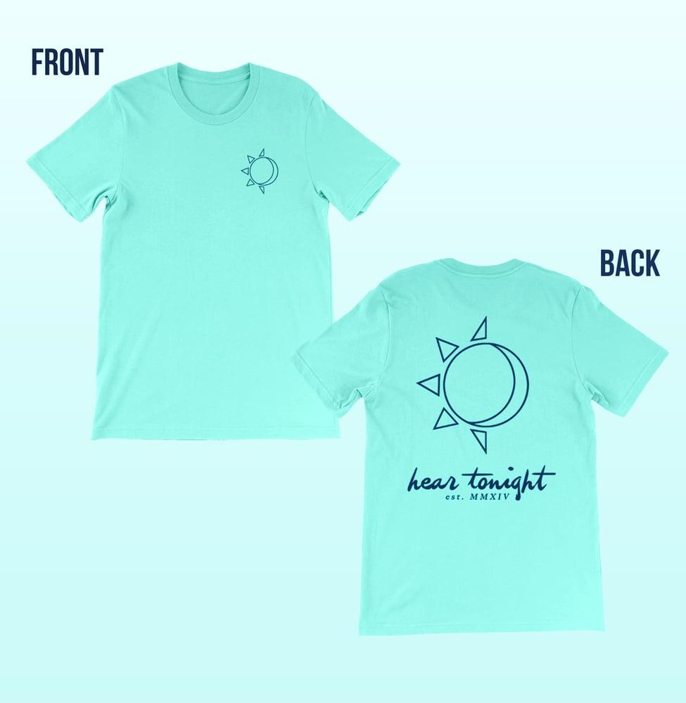 Image of Sun/moon Light Aqua Tee