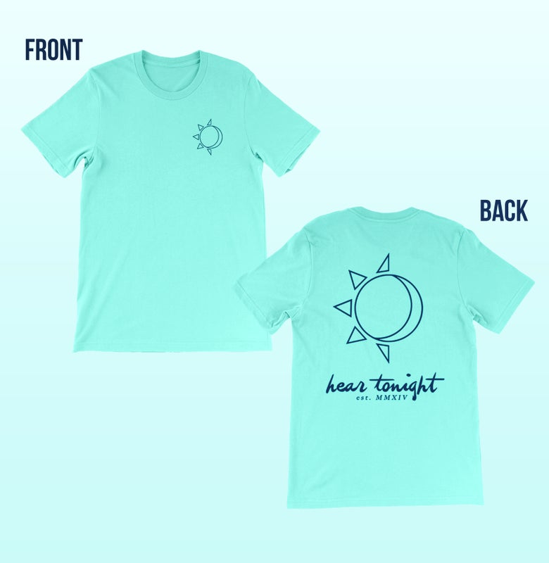 Image of Sun/moon Light Aqua Tee