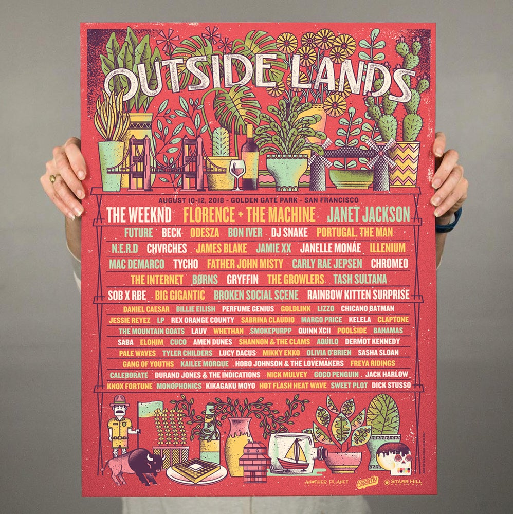 Image of Outside Lands Festival Poster