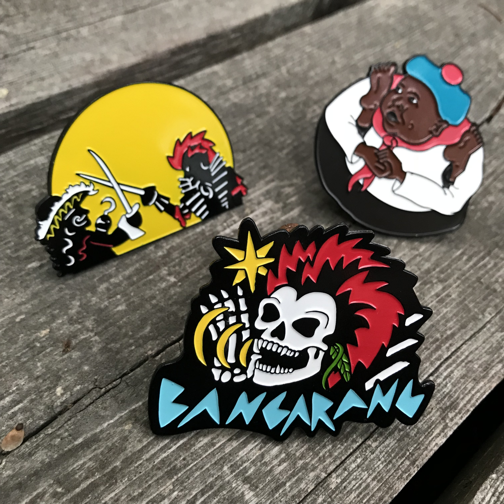 Image of Hook Inspired Enamel Pin Set (3 pins)