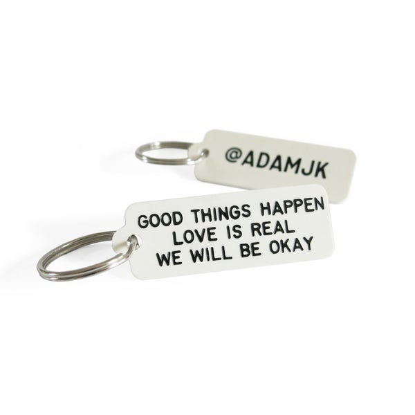 Image of GOOD THINGS HAPPEN Keytag
