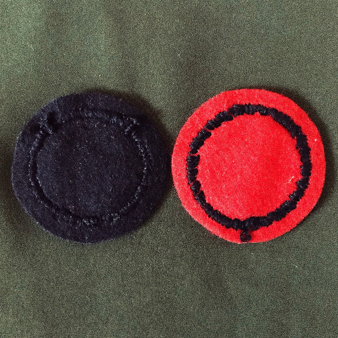 Image of HAND EMBROIDERED FUCK 'EM PATCH.