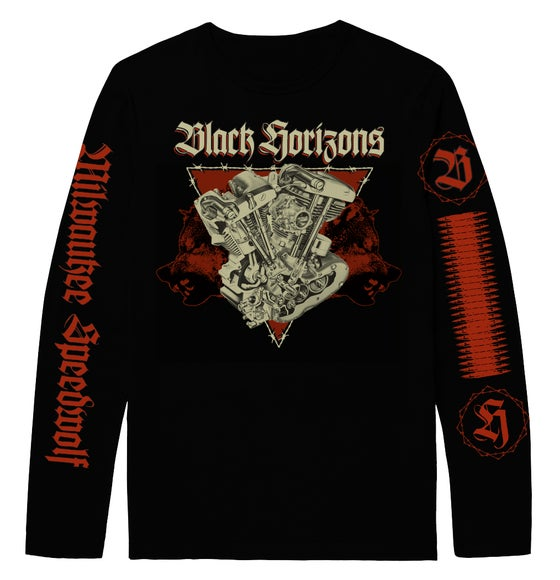 Image of BLACK HORIZONS Milwaukee Speedwolf Longsleeve