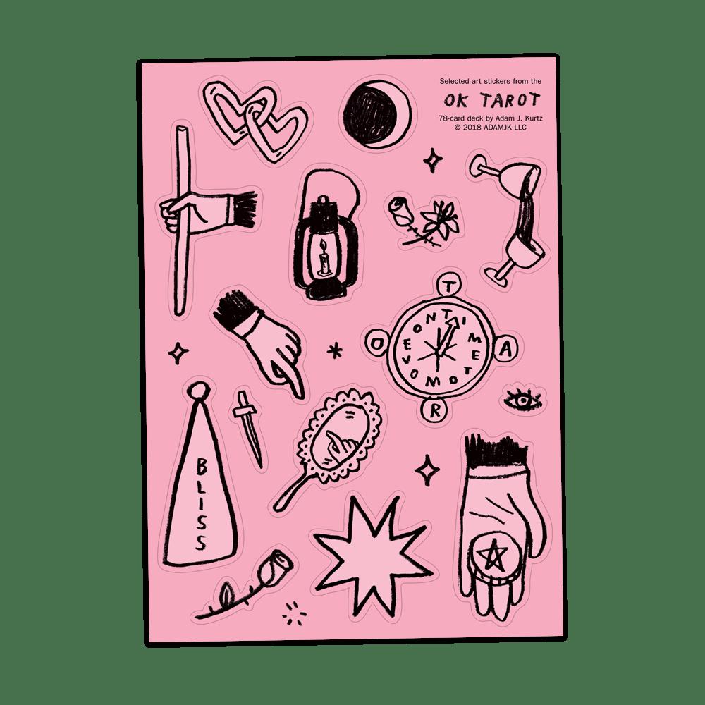 Image of OK Tarot Sticker Sheet