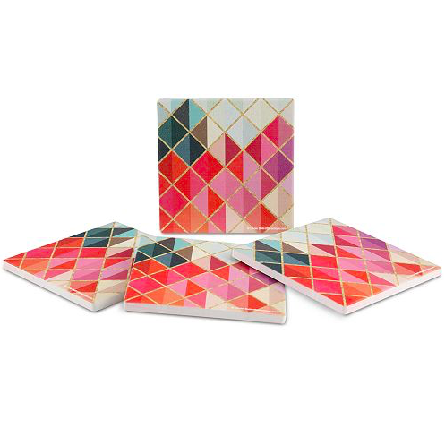 Image of Multicolor Abstract Coasters