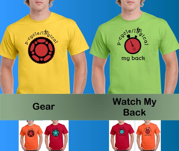 "Image of pCycle ""Gear"" & ""Watch My Back"" Shirts"