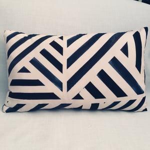 Image of Midnight Stripe Rectangle Cushion