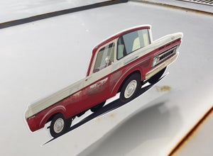 "Image of 1961 F100 ""Ol Red"" Sticker"