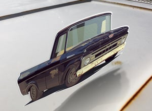 "Image of 1961 F100 ""Black Sheep"" Sticker"
