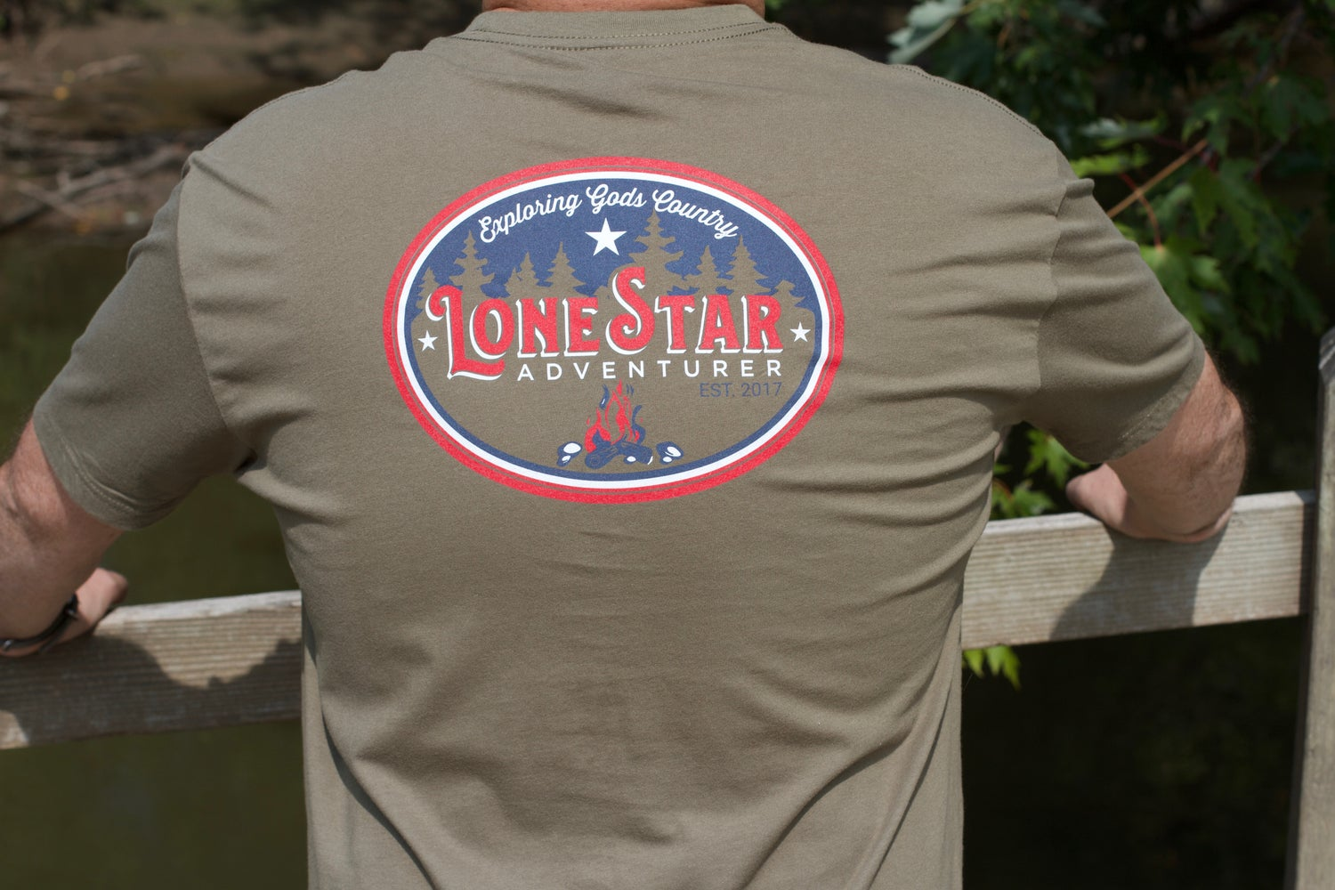 Image of LSA Military Green Tee Mens