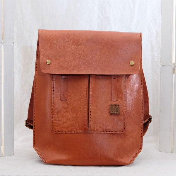 "Image of Bike Bag 15"" Vegetable-tanned Line"
