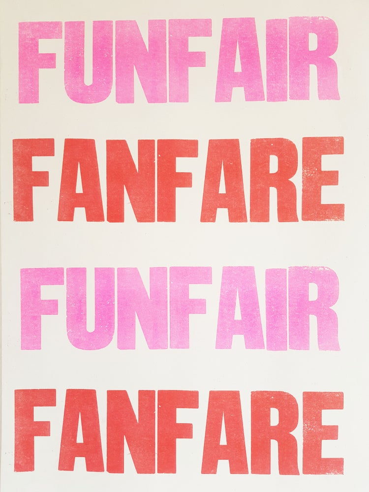 Image of Fun Fair Fan Fare A2 Riso Poster