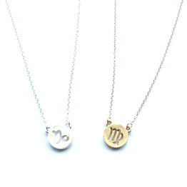 Image of Zodiac coin necklace - silver or gold