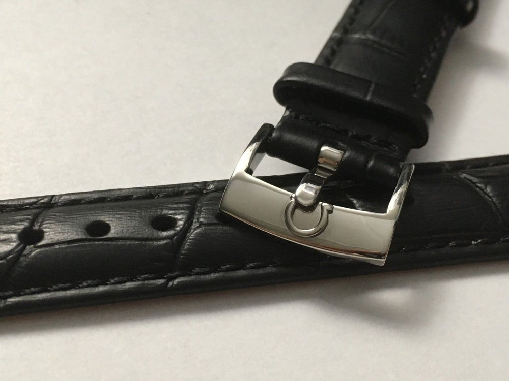 828e9c992 Image of OMEGA,GENUINE PADDED LEATHER GENTS WATCH STRAPS,18MM,20MM,BLACK ...