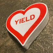 Image of Pack of 50 Yield Heart Stickers