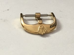 Image of ROLEX WATCH STRAP BUCKLE,YELLOW GOLD PLATED,16MM AND 18MM,NEW.VINTAGE SHAPE