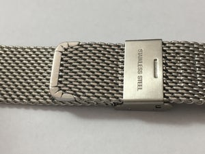 Image of SEIKO STAINLESS STEEL SHARK MESH GENTS WATCH STRAP,18MM,20MM,22MM,NEW