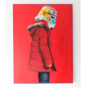 Image of RED TROOPING HOOD *ORIGINAL AND PRINTS*