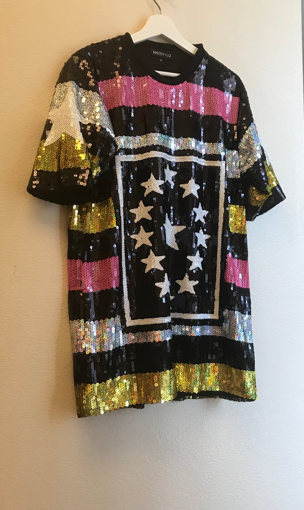 Image of Stars and Stripes sequin Tee dress