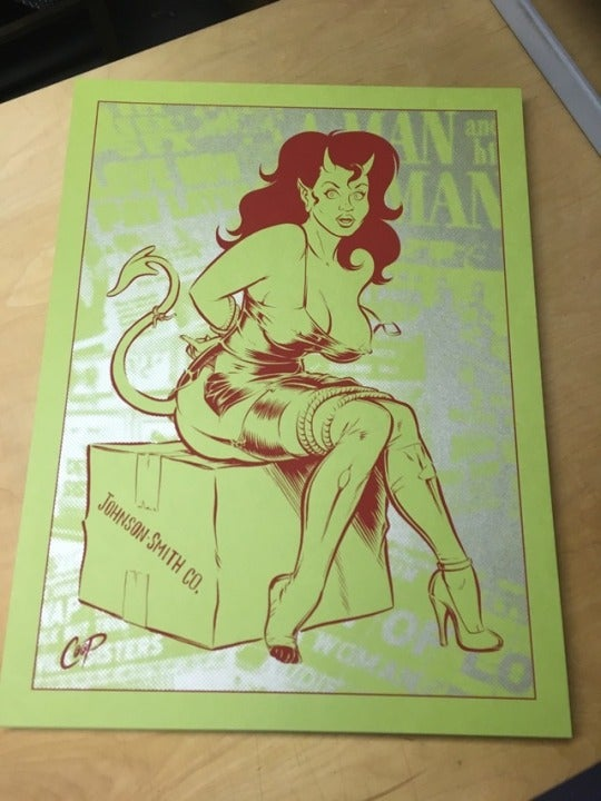 Image of BONDAGE DEVIL GIRL silkscreen print