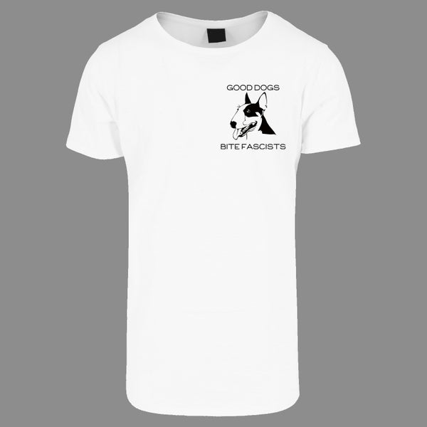 "Image of ""GOOD DOGS BITE FASCISTS"" | Bullterrier | T-Shirt | Antifa | 161 | ACAB | fcknzs |"