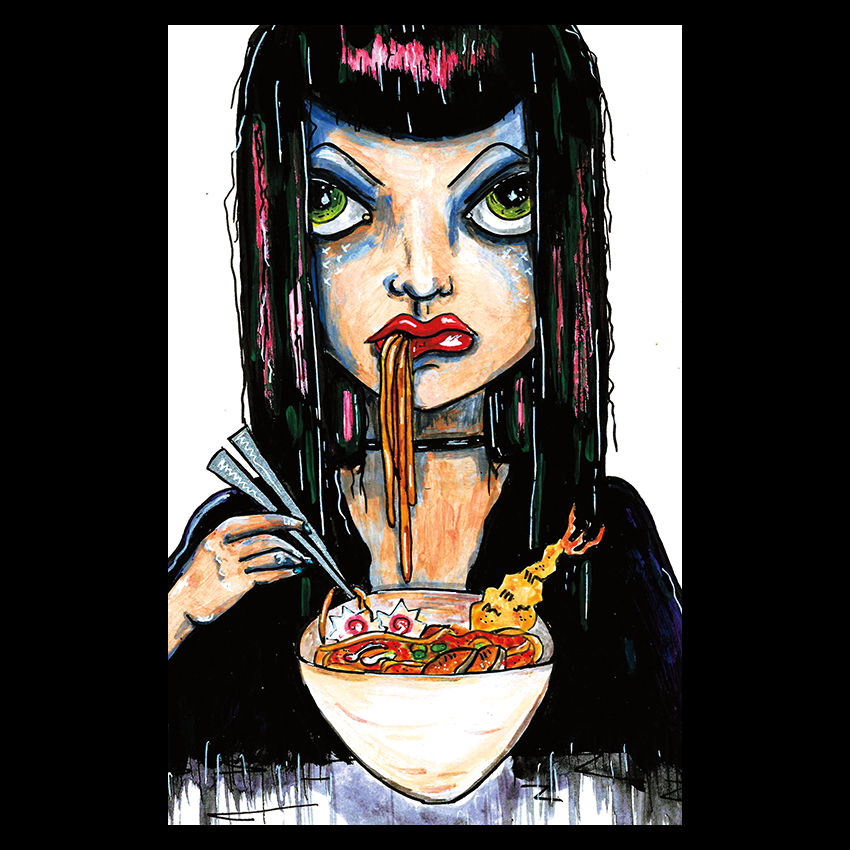 Image of Ramen Girl - Oversized Postcard Print