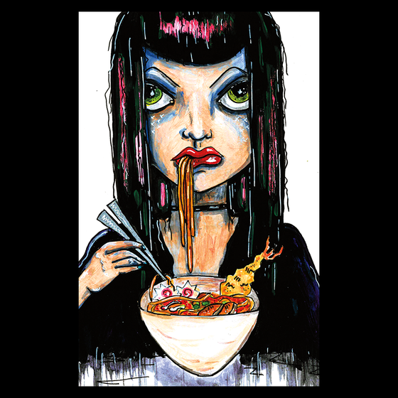 Image of Ramen Girl Postcard Print