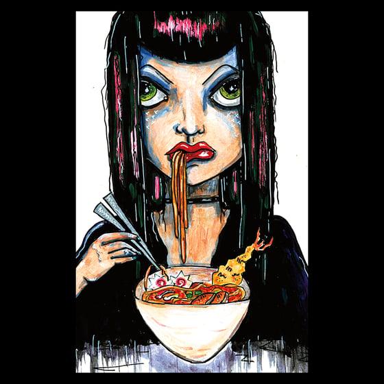 Image of Ramen Girl Postcard Print