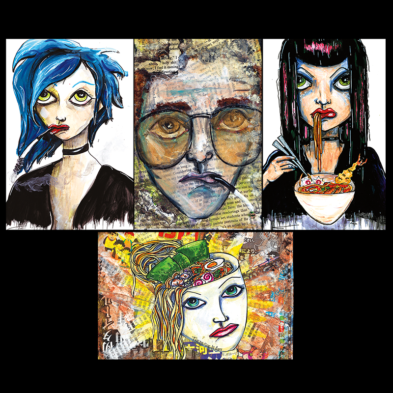 Image of There She Is Art Postcard Set
