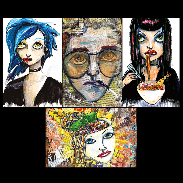 Image of There She Is Art - Oversized Postcard Print - Set