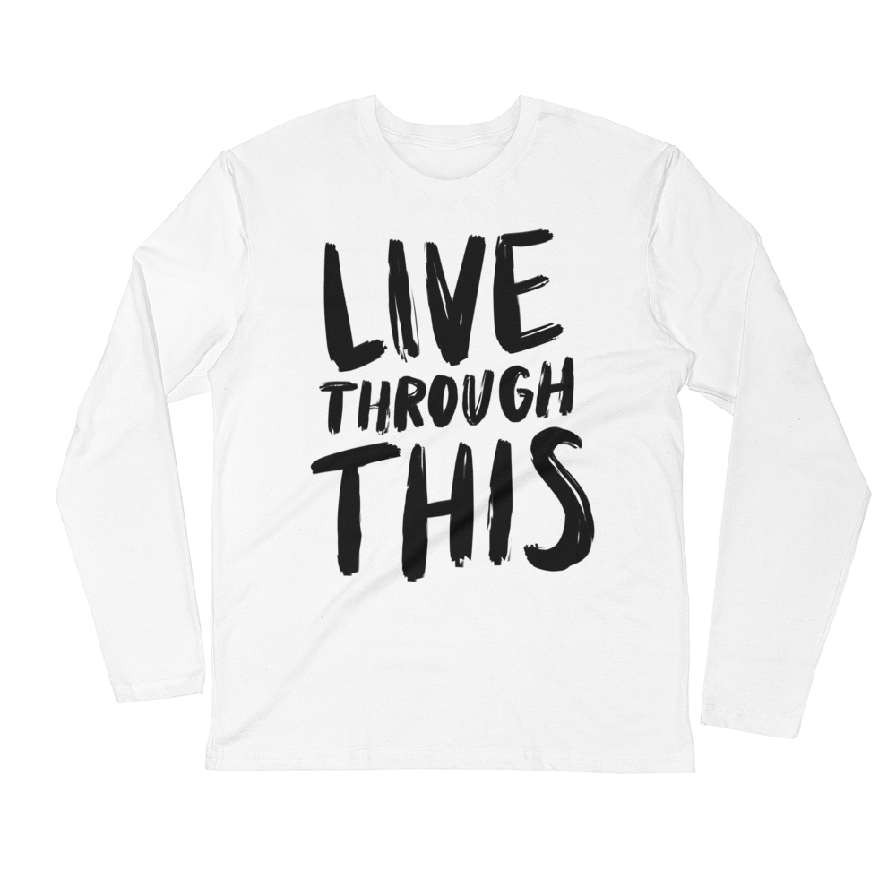 Image of Unisex Long Sleeve Tee - White