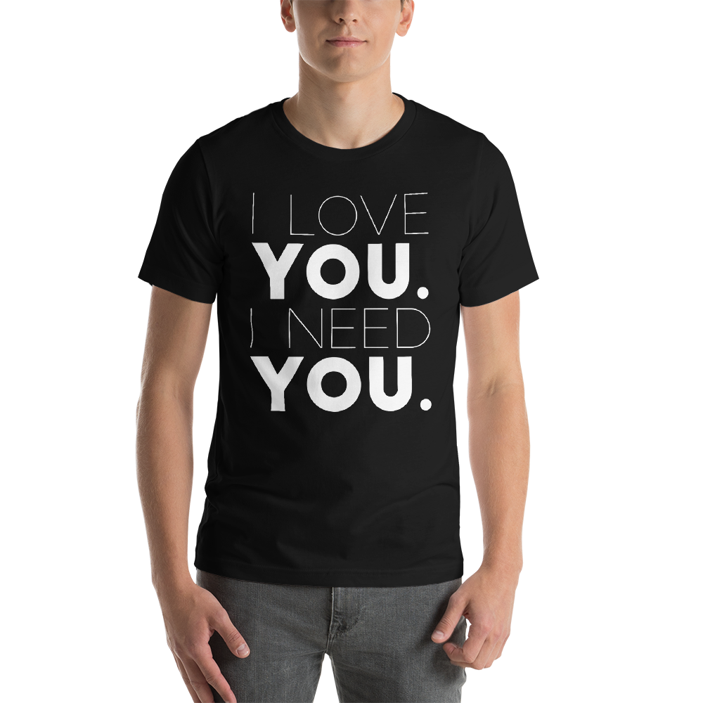 Image of Unisex Love You Need You Tee - Black