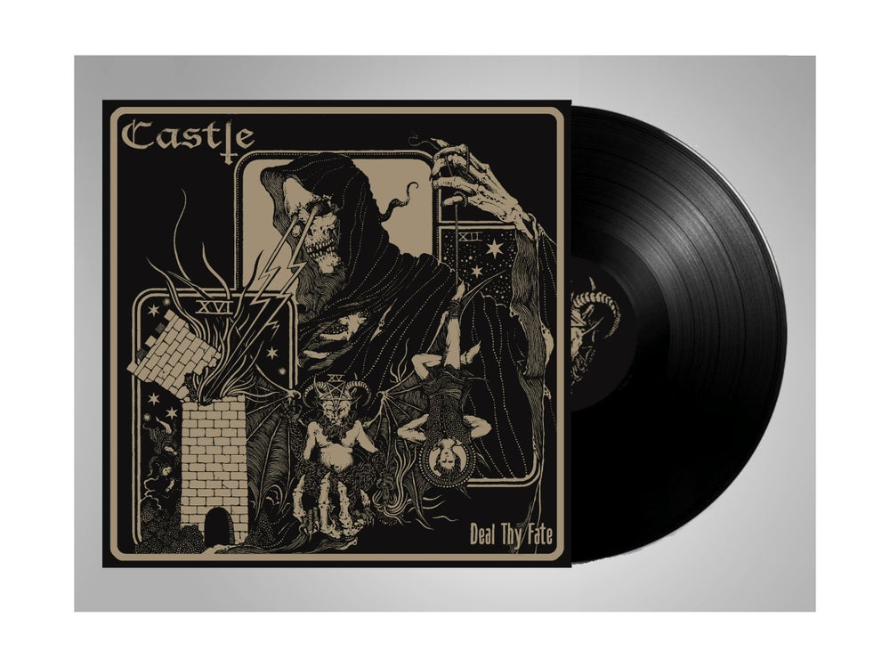 Image of CASTLE Deal Thy Fate LP - Black Vinyl Pre-Order
