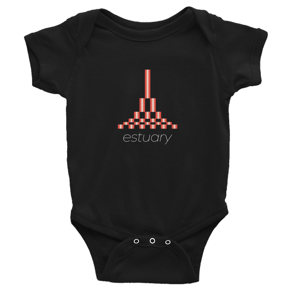Image of Estuary Black Baby Onesie