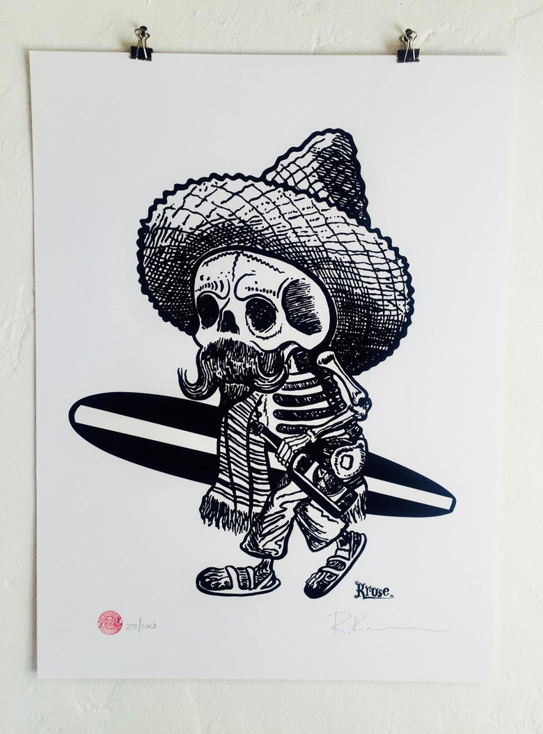 Image of Borracho Silkscreen Poster