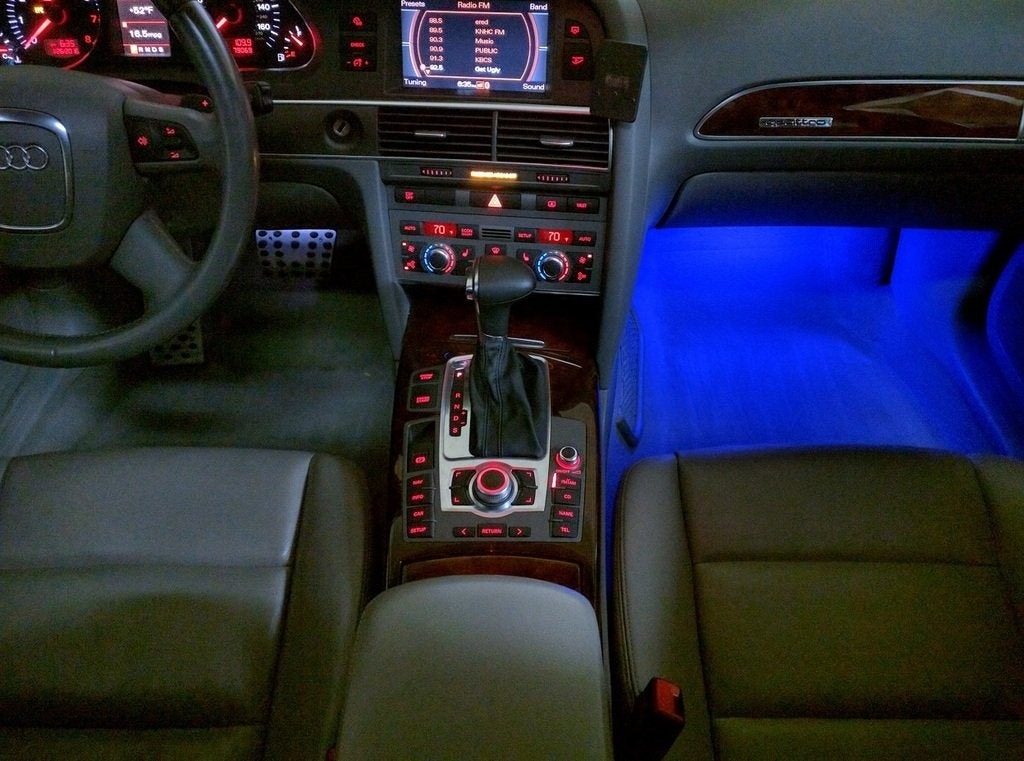 Image of Footwell LED - Square White PCB (4 Prong model) fits many Audi Models
